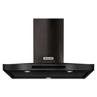 36 in. Wall Mount Canopy Range Hood in Black Stainless