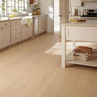 Wire Brushed White Oak 3/8 in. Thick x 7-1/2 in. Wide x Varying Length Click Lock Hardwood Flooring (30.92 sq. ft./case)