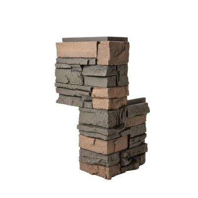 Stacked Stone Stratford 24 in. x 12 in. x 12 in. Faux Stone Siding Corner Piece (2-Pack)