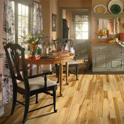 Hickory Rustic Natural 3/4 in. Thick x 2-1/4 in. Wide x Varying Length Solid Hardwood Flooring (20 sq. ft. / case)