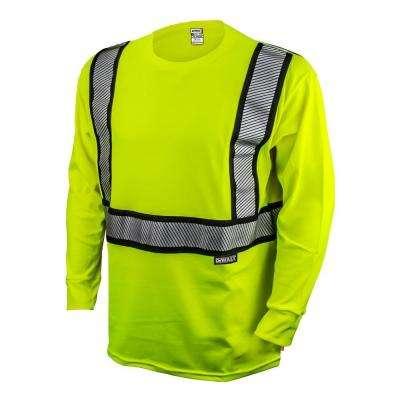 Men's  High Visibilty Green Long Sleeve Class 2 Flame Resistant T-Shirt