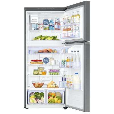 17.6 cu. ft. Top Freezer Refrigerator with FlexZone Freezer in Stainless, Energy Star, Ice Maker