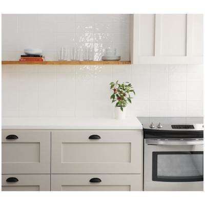 LuxeCraft White 4 in. x 8 in. Glazed Ceramic Subway Wall Tile (10.5 sq. ft. / case)