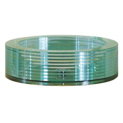 Tempered Segmented Glass Vessel Sink in Clear
