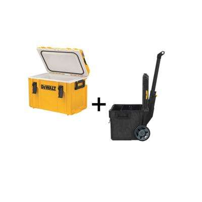 22 in. ToughSystem Tool Box Cooler with Bonus 22 in. 17 Gal. Mobile Tool Box