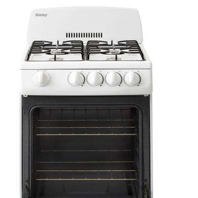 20 in. 2.4 cu. ft. Gas Range with Manual Clean Oven in White