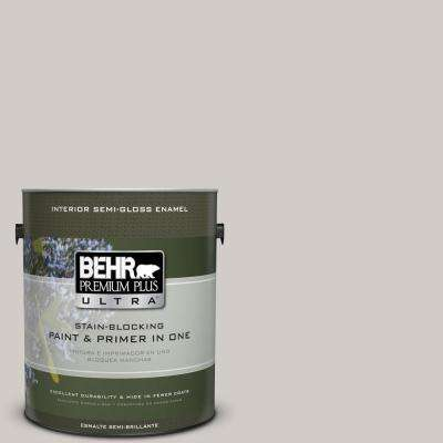 Home Decorators Collection 1-gal. #HDC-NT-20 Cotton Grey Semi-Gloss Enamel Interior Paint