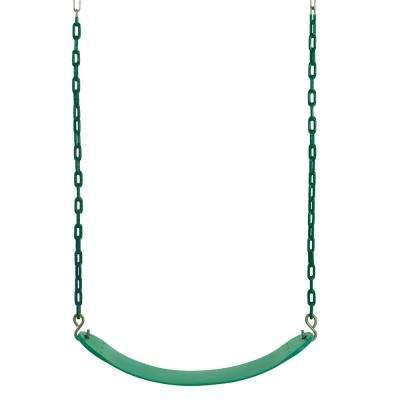 Belt Swing for All Ages with Vinyl Coated Chain, Green