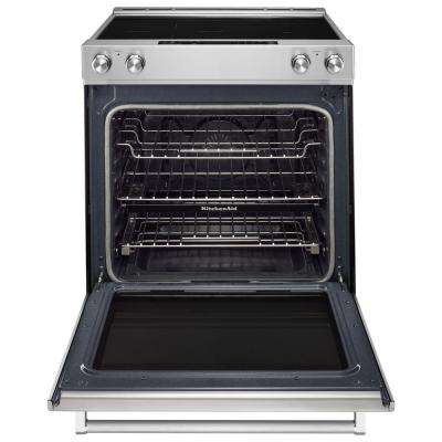 7.1 cu. ft. Slide-In Electric Range with Self-Cleaning Convection Oven in Stainless Steel
