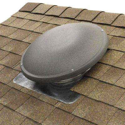 1500 CFM Shingle Match Weathered Wood Power Roof Mount Attic Fan