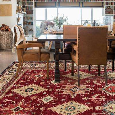 Washable Noor Ruby 8 ft. x 10 ft. Stain Resistant Area Rug