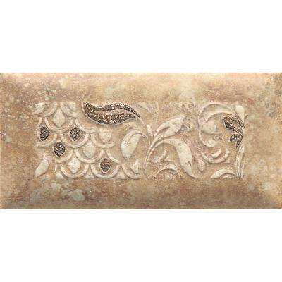 Del Monoco Adriana Rosso 3-1/4 in. x 6-1/2 in. Glazed Porcelain Decorative Accent Floor and Wall Tile