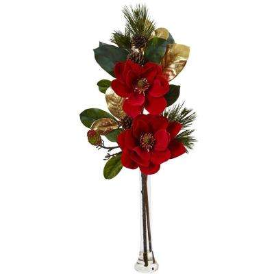 34 in. Holiday Magnolia Arrangement