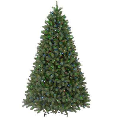 9 ft. FEEL-REAL Downswept Douglas Fir Artificial Christmas Tree with 900 Multi-Color Lights