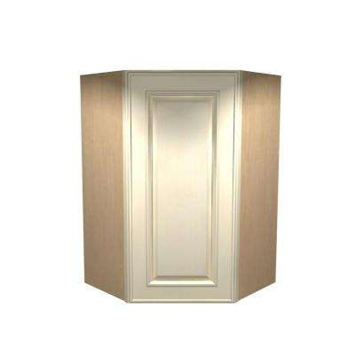 24x36x24 in. Holden Assembled Wall Angle Corner Cabinet in Bronze Glaze