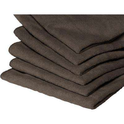 10 Microfiber Towels in Charcoal