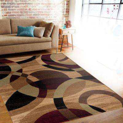 Contemporary Modern Circles Abstract Multi 2 ft. x 3 ft. Indoor Area Rug