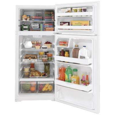 16.6 cu. ft. Top Freezer Refrigerator in White