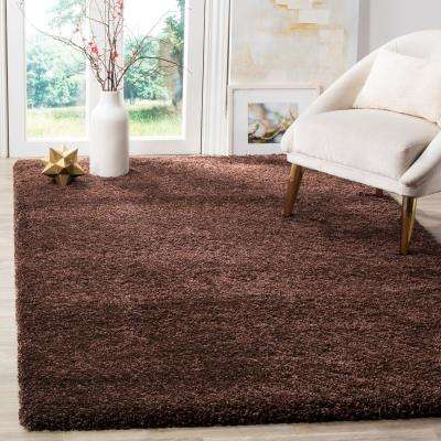 Milan Shag Brown 8 ft. x 10 ft. Area Rug