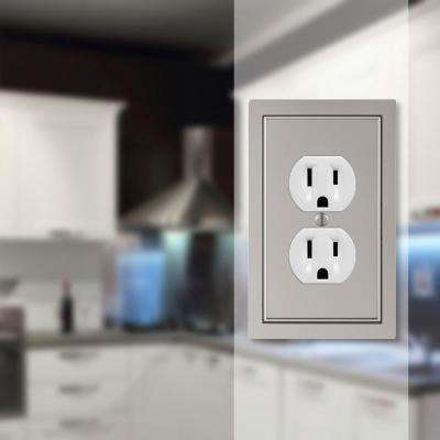 Averly 1 Gang Duplex Metal Wall Plate - Satin Nickel