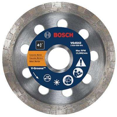 4-1/2 in. Turbo Rim V-Groove Diamond Blade for Smooth Cuts