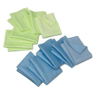 Microfiber Windshield and Glass Cloth (10-Pack)