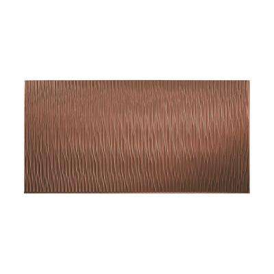 Dunes Vertical 96 in. x 48 in. Decorative Wall Panel in Argent Copper