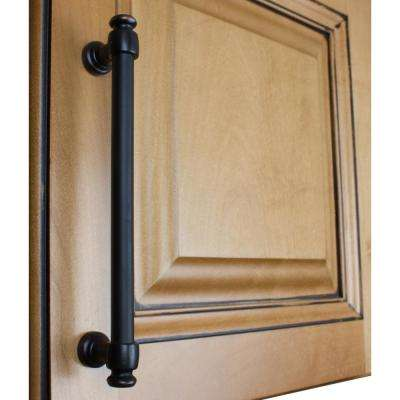 6-1/4 in. Center-to-Center Oil Rubbed Bronze Modern Solid Steel Euro Cabinet Bar Pull (10-Pack)