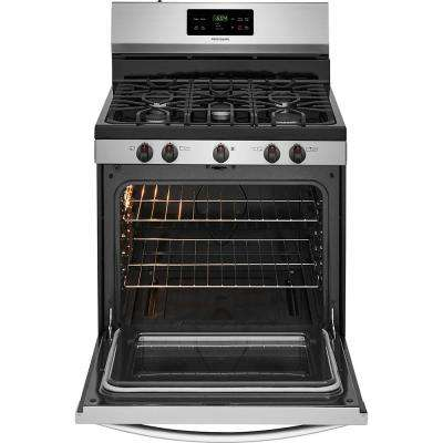 30 in. 5.0 cu. ft. Gas Range with Self-Cleaning Oven in Stainless Steel