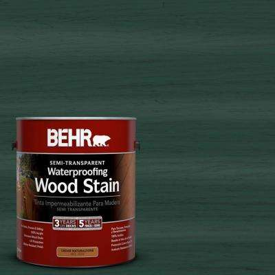 1-gal. #ST-114 Mountain Spruce Semi-Transparent Waterproofing Wood Stain