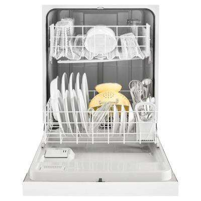 24 in. Front Control Built-In Tall Tub Dishwasher in White with 1-Hour Wash Cycle
