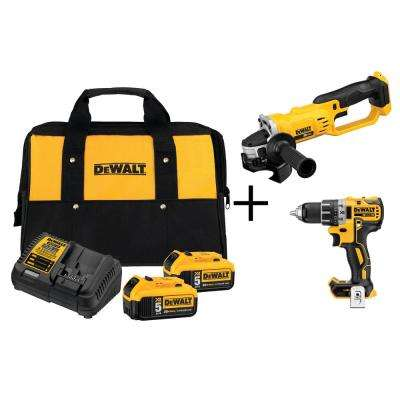 20-Volt MAX Lithium-Ion 5.0 Ahr Starter Kit with Bonus Bare Brushless Drill/Driver and Grinder