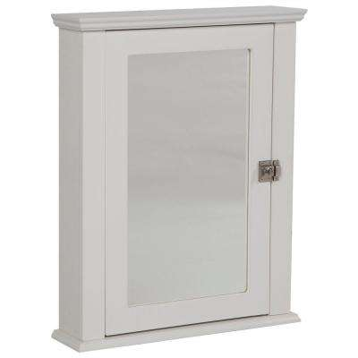 Lamport 21-1/4 in. W x 26-63/100 in. H x 5-11/25 in. D Framed Surface-Mount Bathroom Medicine Cabinet in White
