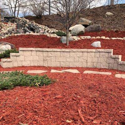 31.5 in. H x 6 in. D Brown Fiberglass Landscape Retaining Wall Straight Panel (1-Piece)