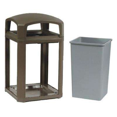 Landmark Series 35 Gal. Domed Frame Trash Can with Rigid Liner