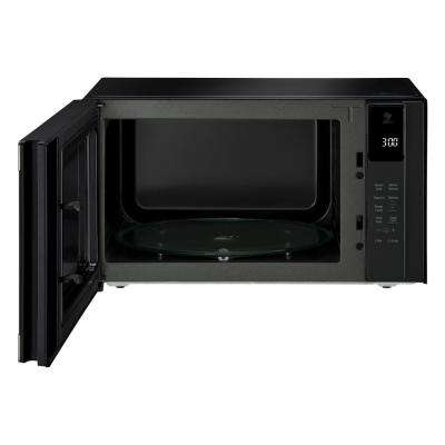 NeoChef 1.5 cu. ft. Countertop Microwave in Black Stainless Steel
