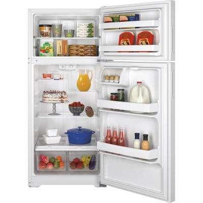 15.5 cu. ft. Top Freezer Refrigerator in White