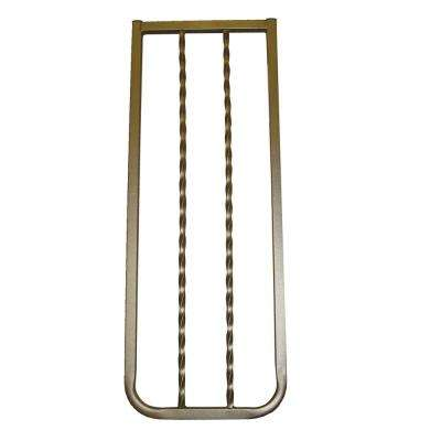30 in. H x 10.5 in. W x 2in. D Extension for Wrought Iron Decor Gate Bronze
