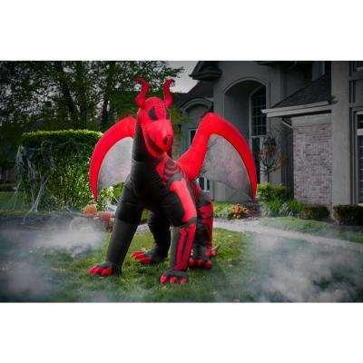 10 ft. Inflatable Skeleton Dragon