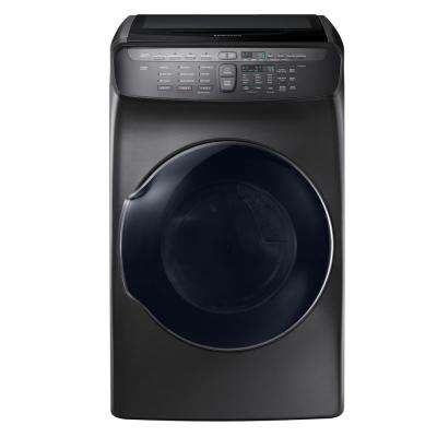 7.5 Total cu. ft. Electric FlexDry Dryer with Steam in Black Stainless Steel