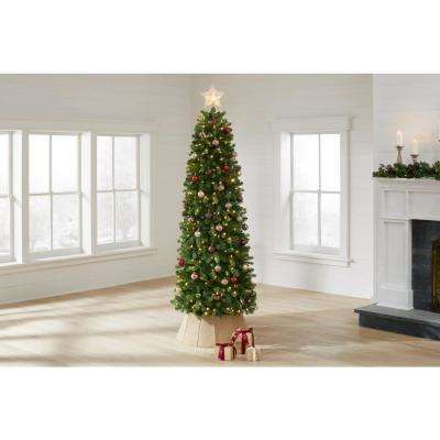 7.5 ft Manchester Slim White Spruce LED Pre-Lit Artificial Christmas Tree with 350 SureBright Color Changing Lights