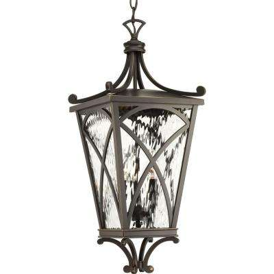 Cadence Collection 3 -Light Outdoor Oil Rubbed Bronze Hanging Light