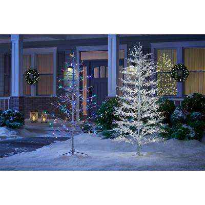 6 ft. LED Color Changing Artificial Twig Tree with Multi-Color Lights