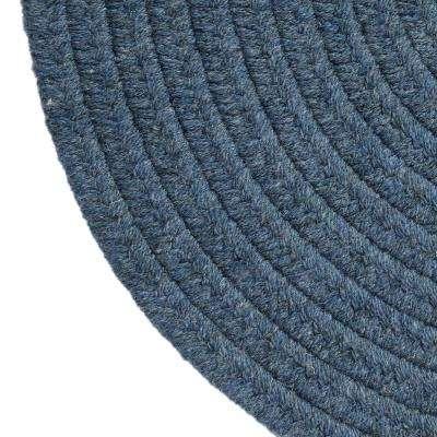 Edward Blue 6 ft. x 6 ft. Round Braided Area Rug