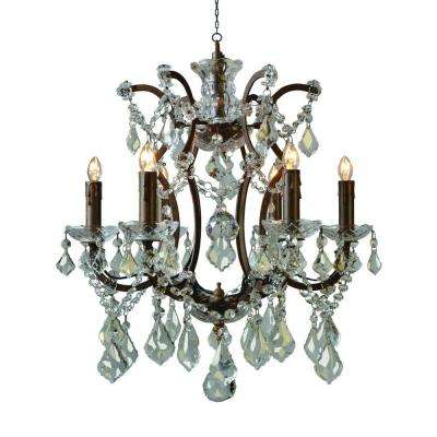 Groveland Collection 6-Light Rustic Chandelier