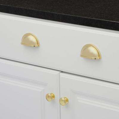 Williamsburg 3 in. Center-to-Center Polished Brass Cup Pull