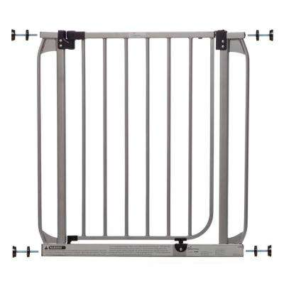 Dawson Silver 29.5 in. H Auto-Close Security Gate with Stay-Open Feature