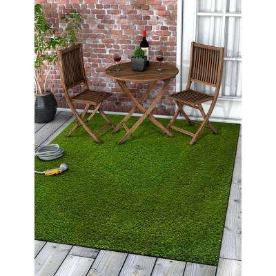 Arcadia 5 ft. 3 in. x 7 ft. 3 in. Artificial Grass Indoor/Outdoor Turf Green Rug