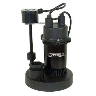 1/3 HP Submersible Sump Pump with Vertical