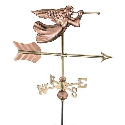 Angel Cottage Weathervane - Pure Copper with Roof Mount
